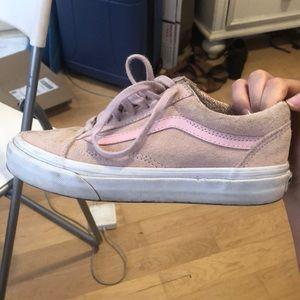 488ee96f2843 ... Pink Suede Vans Old Skool Sneakers ...